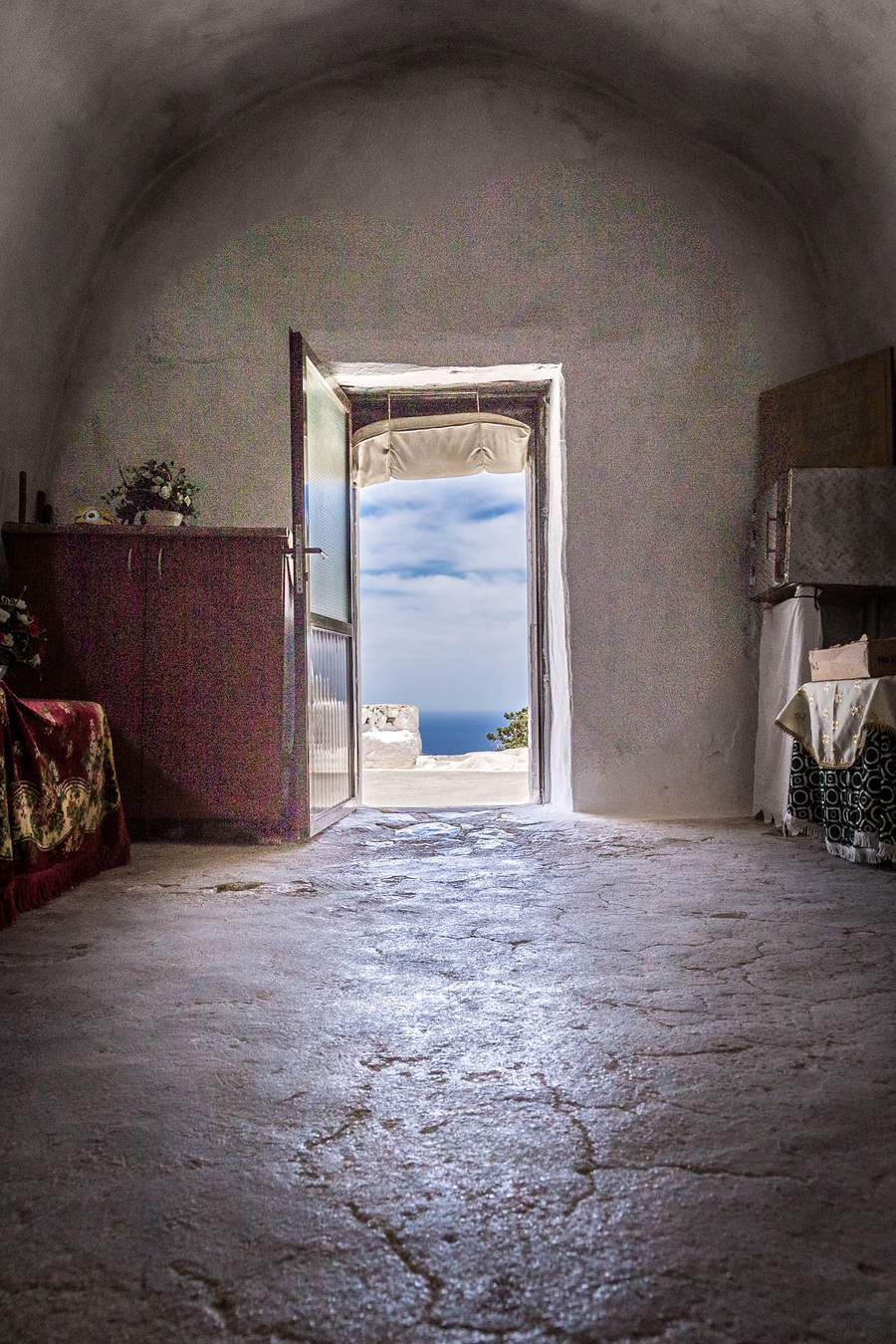 Picture of th view from the Church at Monolithos by Rick McEvoy, interior photographer