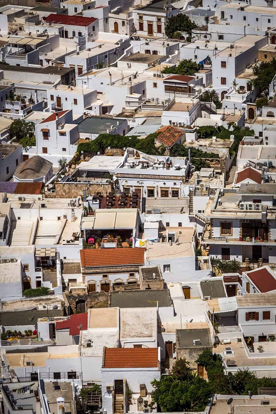 Lindos, Rhodes, photographed from the Acropolis  - architectural photography image of the week