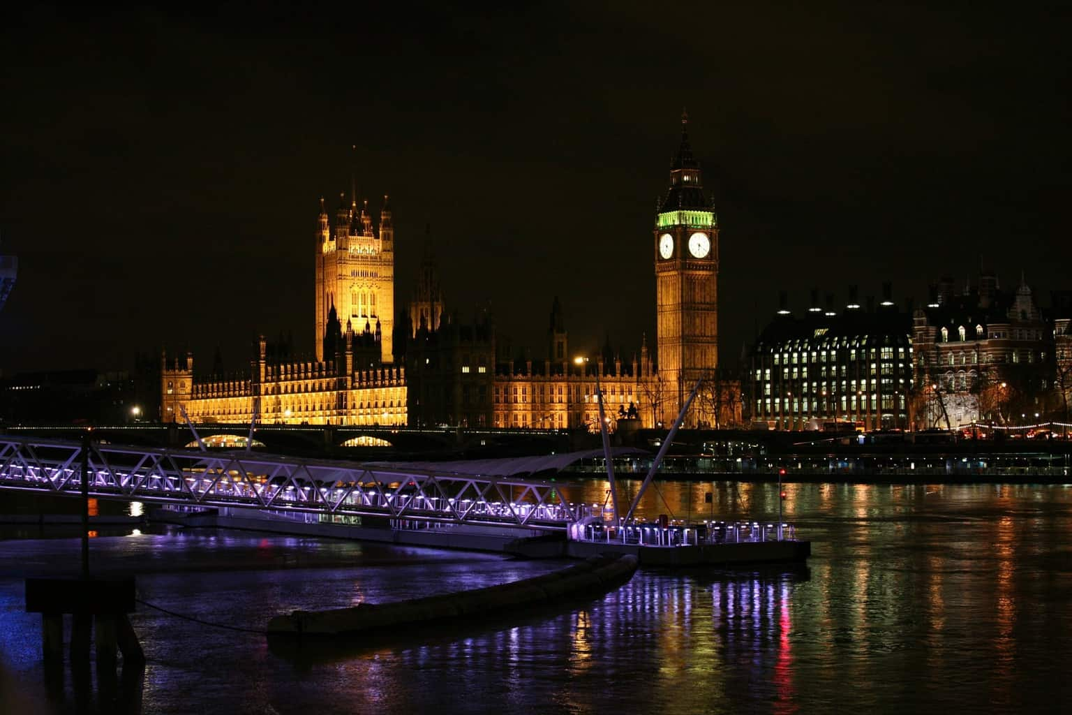 London skyline showing Houses of Parliament and Big Ben