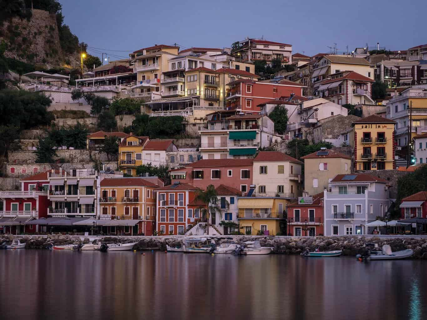The lovely buildings of Parga in Greece