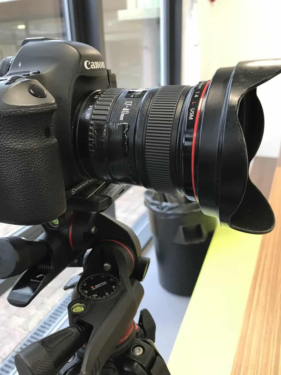 Canon 17-40mm lens on my Canon 6D mounted on my Manfrotto tripod