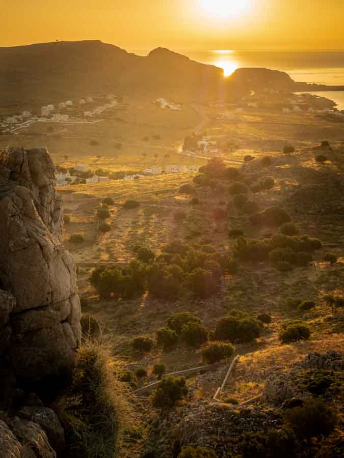 This is the view looking towards Lindos as the sunrises. The photo was taken from the top of the hill in Pefkos by the Prophet Elias Church. This is one of my favourite sunrise locations for obvious reasons!