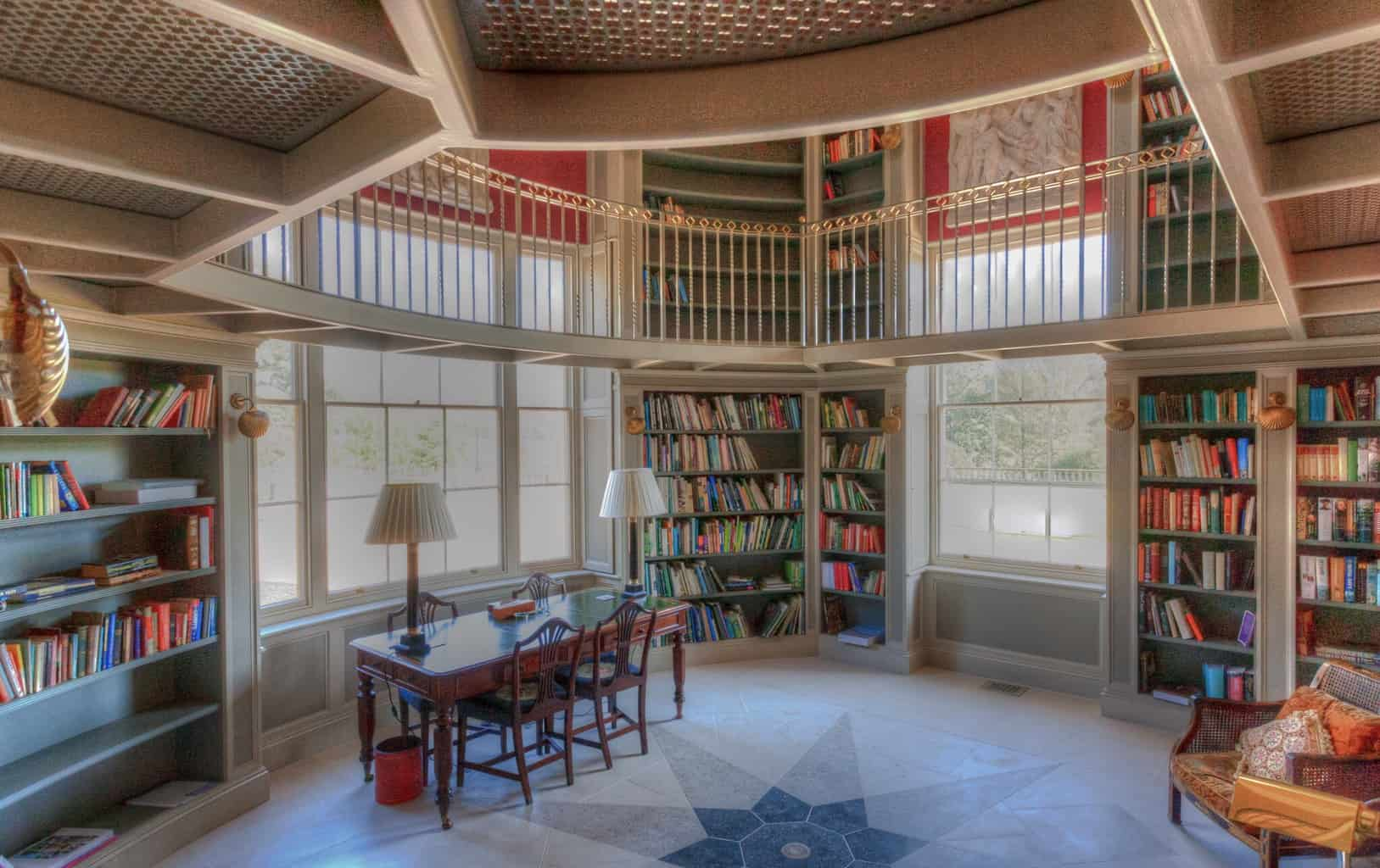 Library, Dorset, by interior photographer Rick McEvoy
