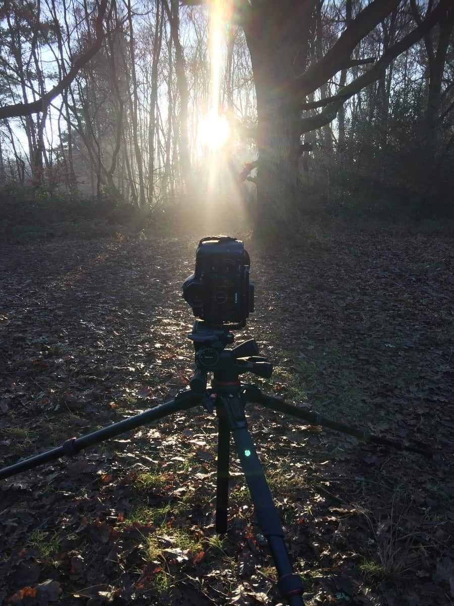 My Canon 6D on my Manfrotto Tripod