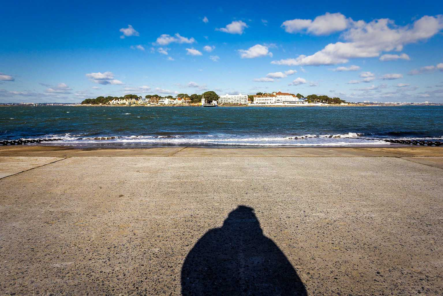 Sandbanks viewed from the other end of the chain ferry