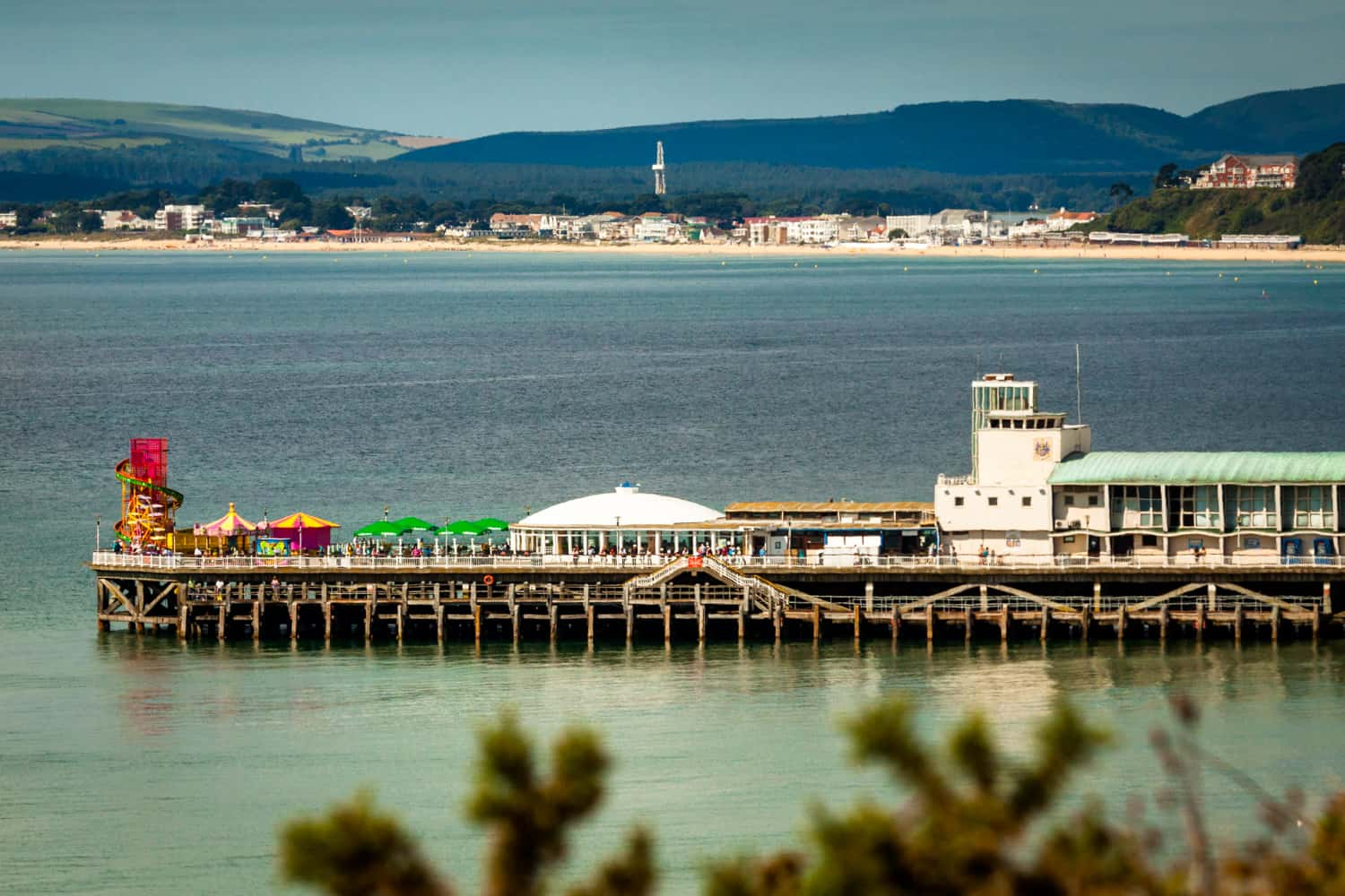 Bournemouth Pier and Sandbanks Beach by Rick McEvoy Bournemouth Photographer