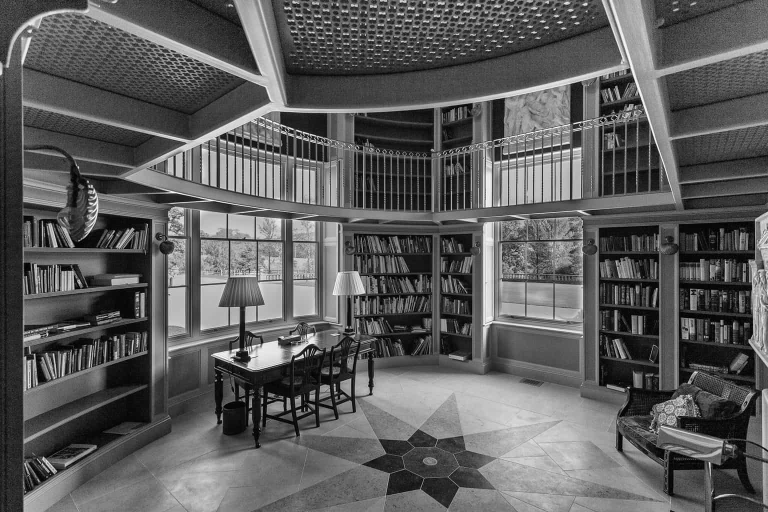 Chideock Manor Library. Stunning, timeless interior space.