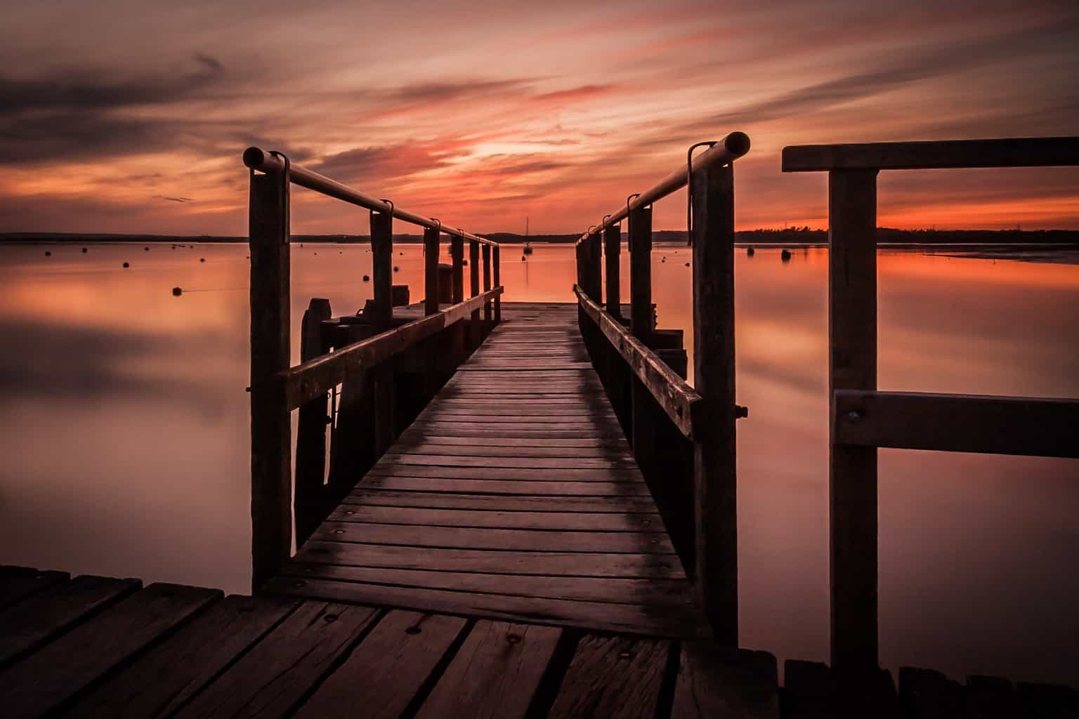 Sunset and a long exposure by Rick McEvoy Poole Photographer