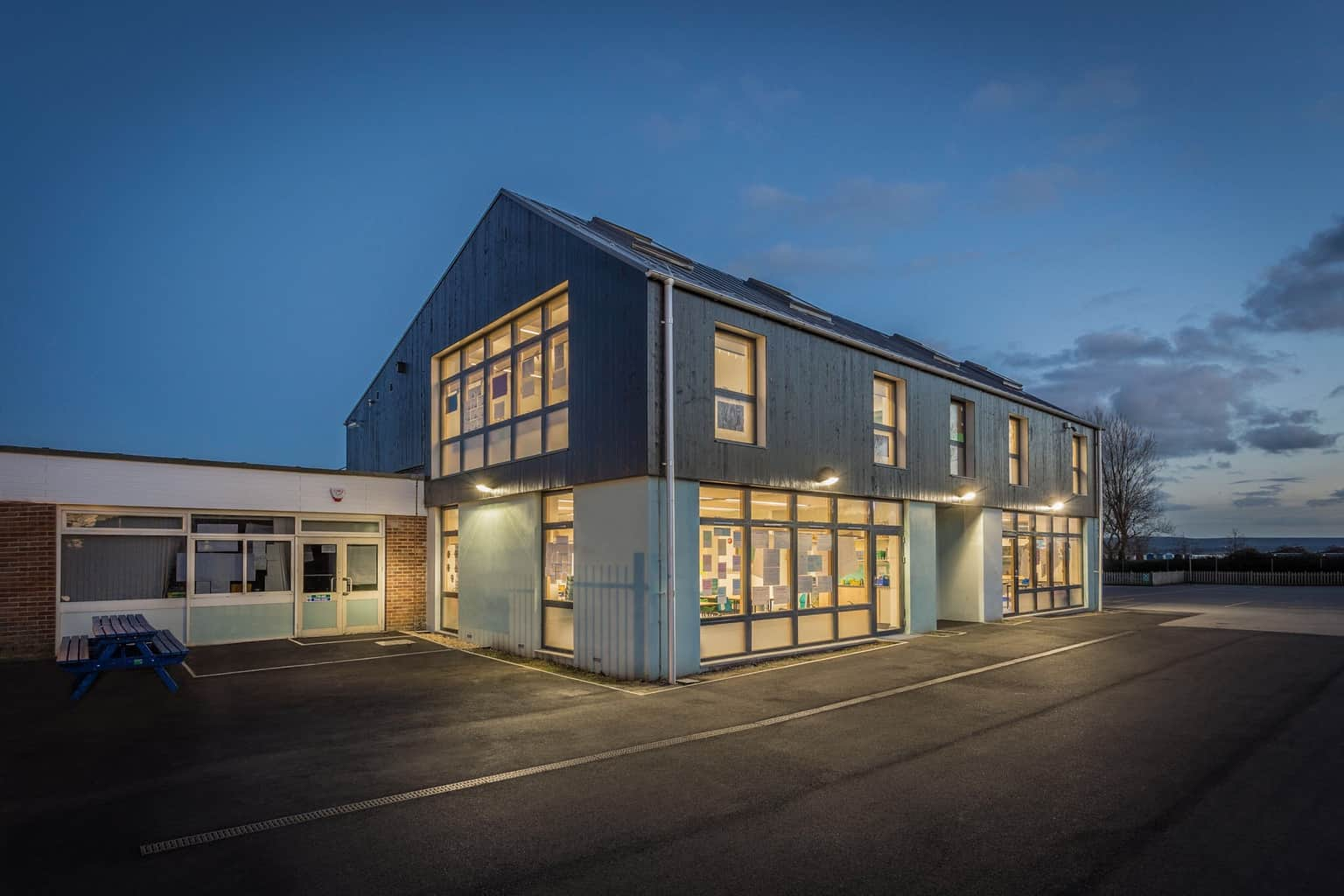 Picture of an extension to a school by architectural photographer Rick McEvoy