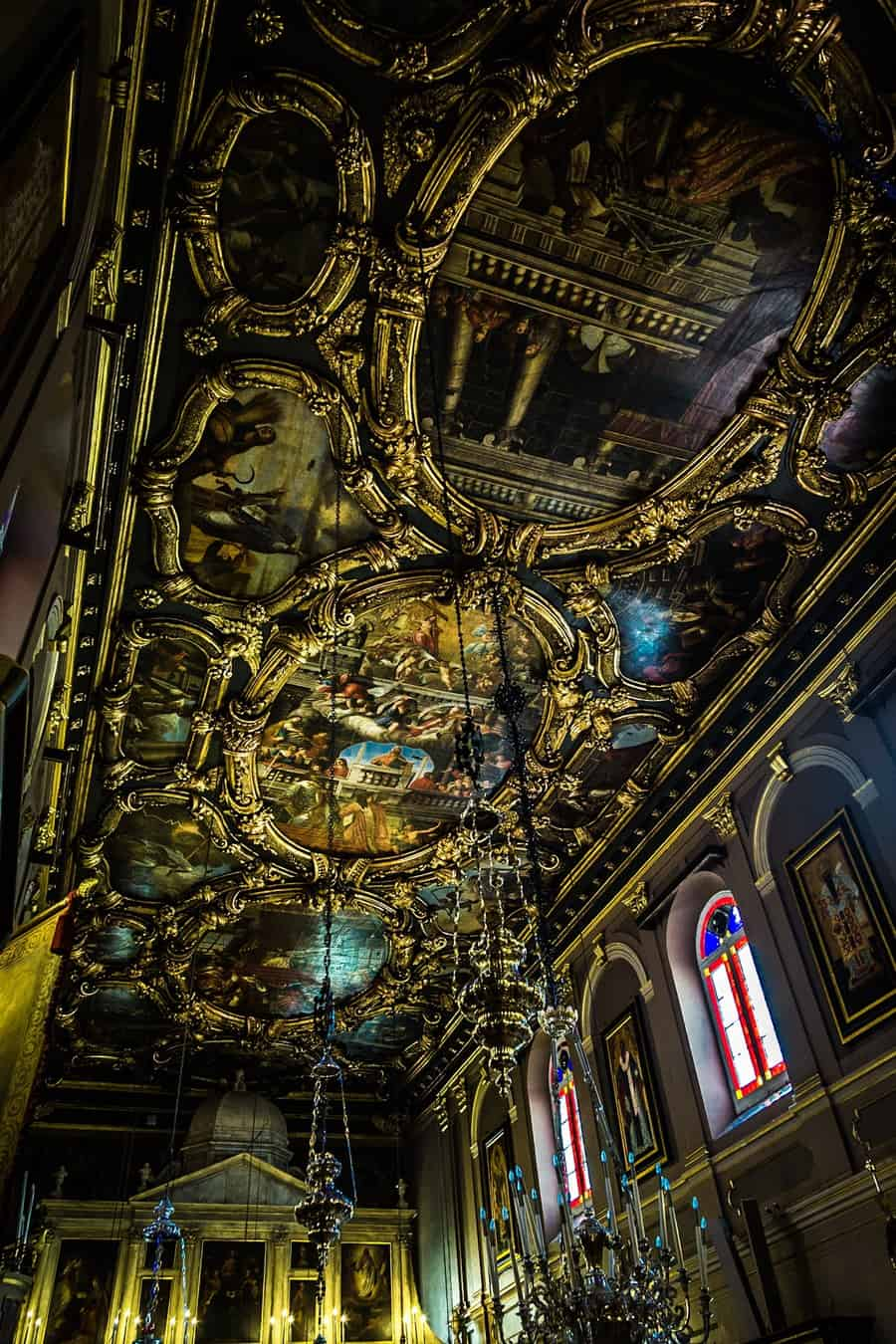 Church Ceiling, Corfu, Greece, by Rick McEvoy interior photographer