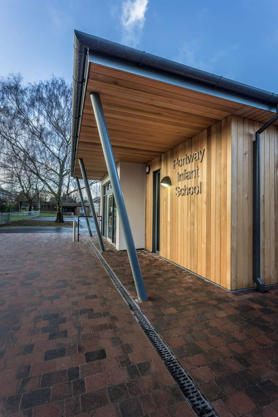 The reception to this Hampshire school by architectural photographer Rick McEvoy