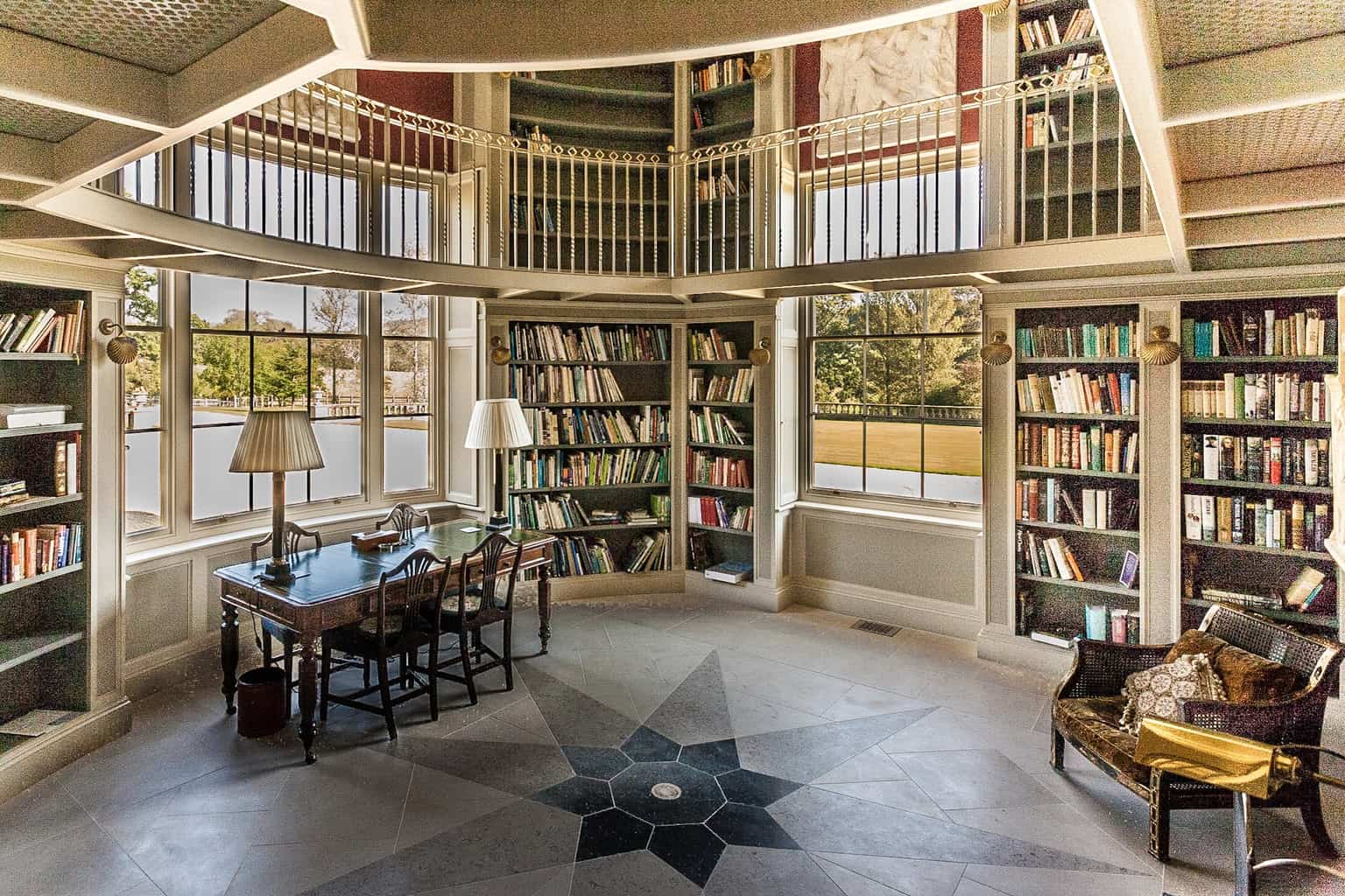Library by Rick McEvoy interior photographer in Dorset