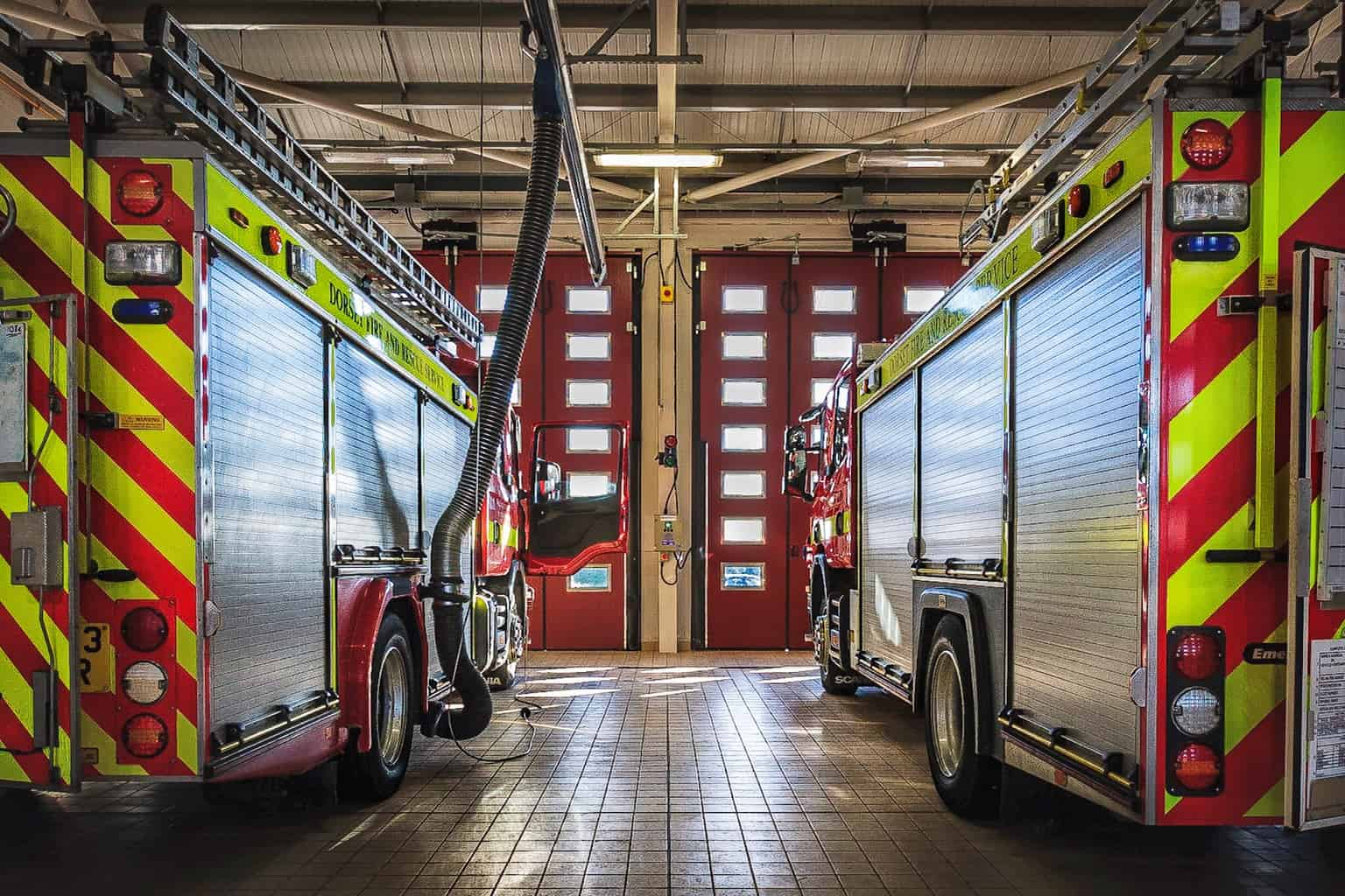 Appliance Bay at Dorchester Fire Station