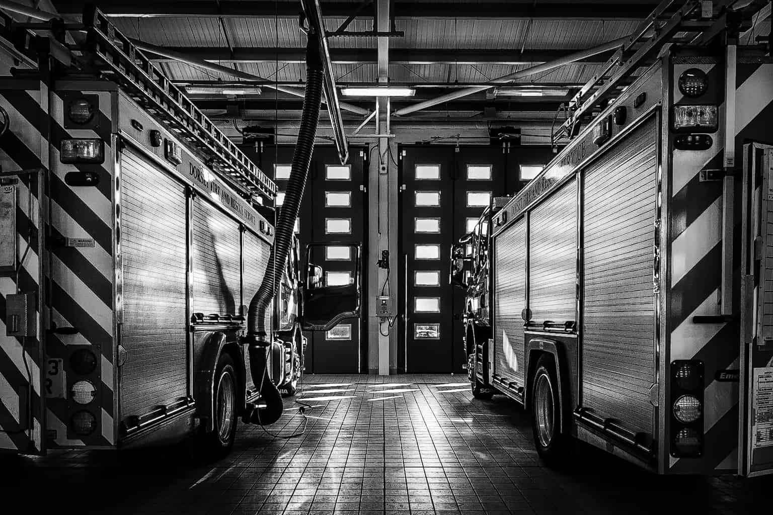 Black and white interior photography in Dorset