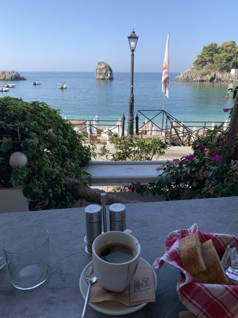 The view from The Old Garden in Parga