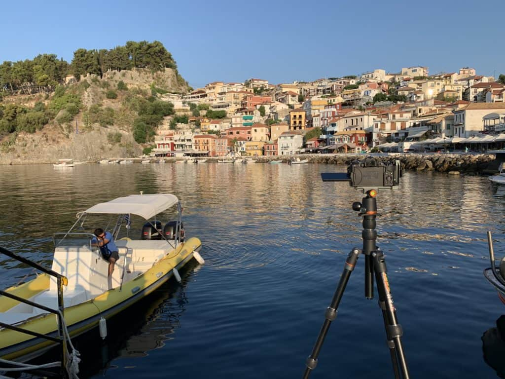 On location in Parga with the Olympus EM5 Mk 2