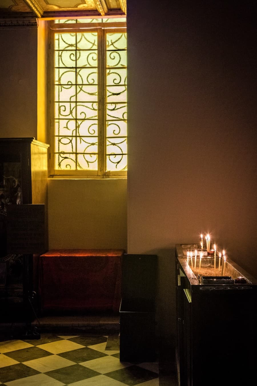 Picture of the lovely light in a church by Rick McEvoy interior photographer