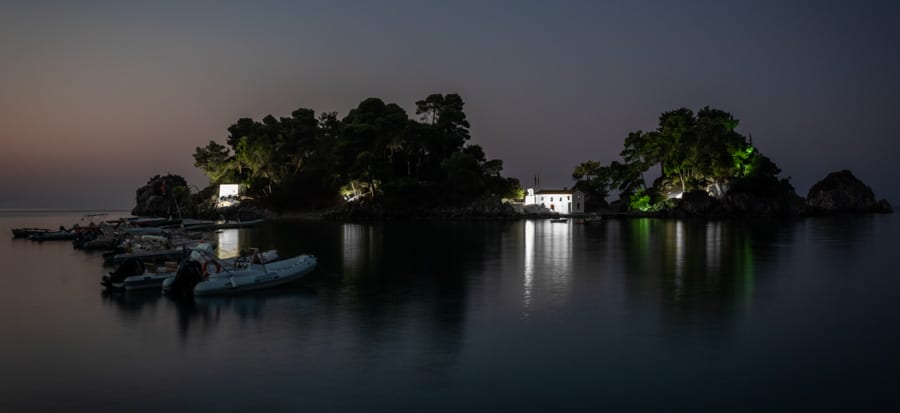 Panagia Chapel Parga photographed before sunrise - version 2