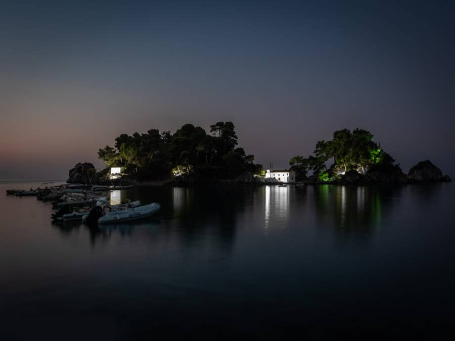 Panagia Chapel Parga photographed before sunrise