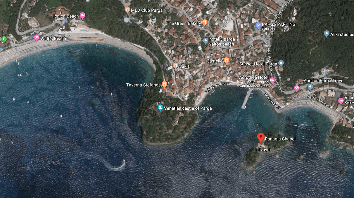 Panagia Chapel location