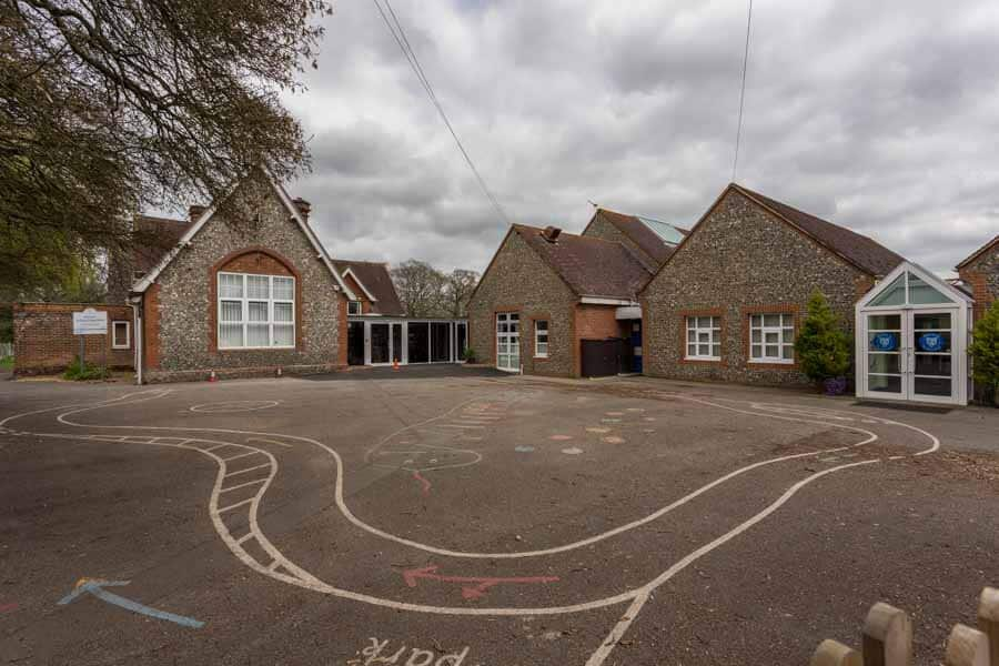 Photo of a refurbished school in Hampshire - before