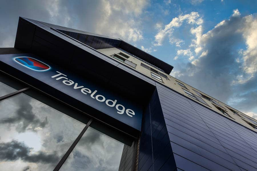 Travelodge Eastleigh Central - close up with a new sky