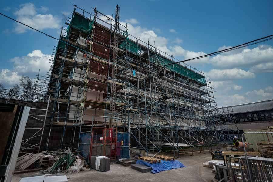 Scaffolding on a major refurbishment in Hampshire