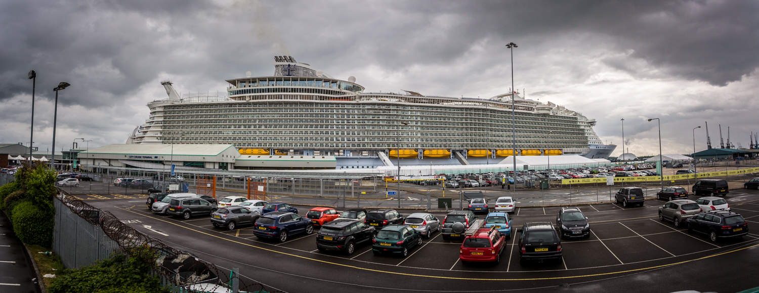 Harmony of the Seas in the Port of Southampton by Rick McEvoy Industrial Photographer