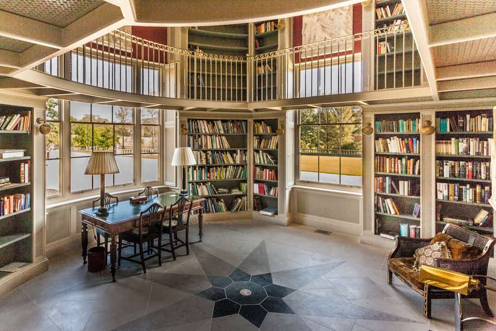 Picture of a private library in Dorset by Rick McEvoy interior photographer.jpg