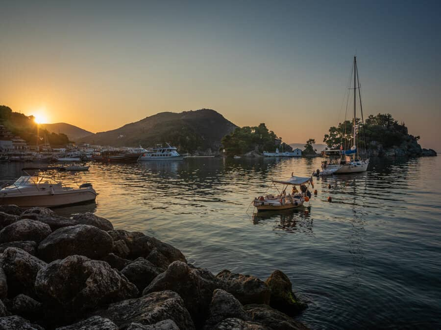This is what Parga looks like when the sun rises