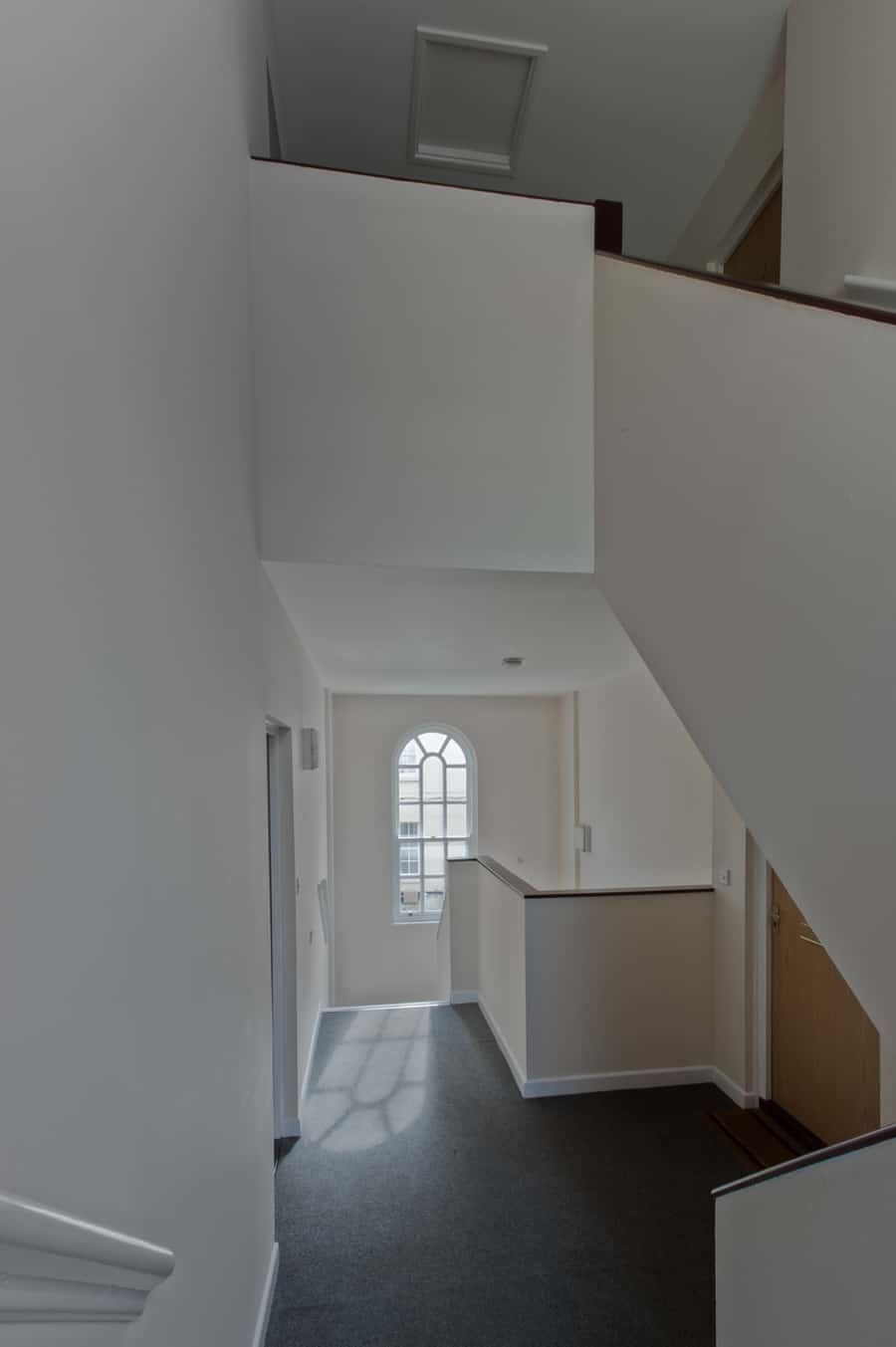 Dulux Trade Pyroshield paint applied to the stairs in a residential development in Poole.jpg