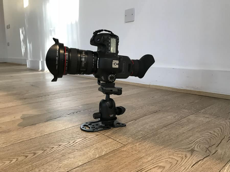 Canon 6D, Canon 17-40mm lens, Platypod Pro live on location on an architectural shoot in Dorset