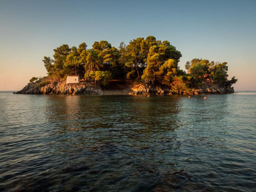 Panagia Island Parga at sunrise