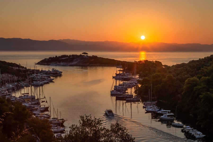 Photo of sunrise in Gaios on the Greek Island of Paxos