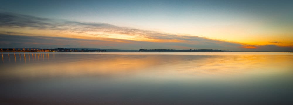 Sandbanks Panoramic Sunset by Rick Mcevoy Photography