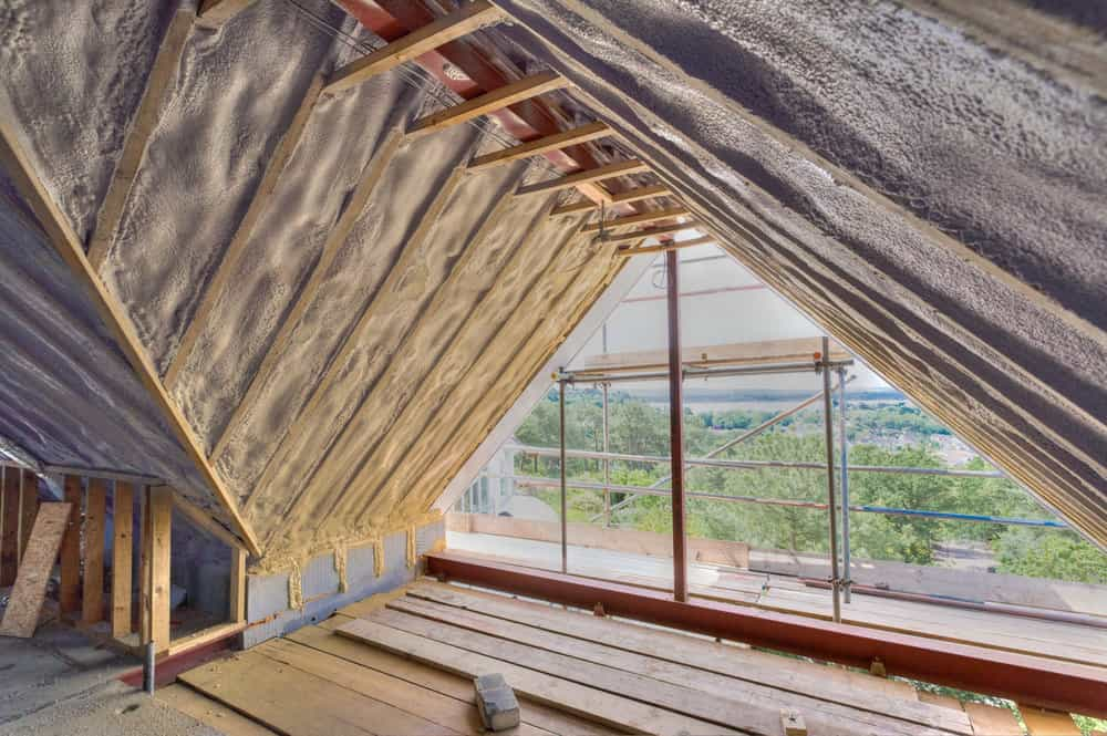 Sprayed insulation in Poole by Rick McEvoy Construction Product Photographer.jpg