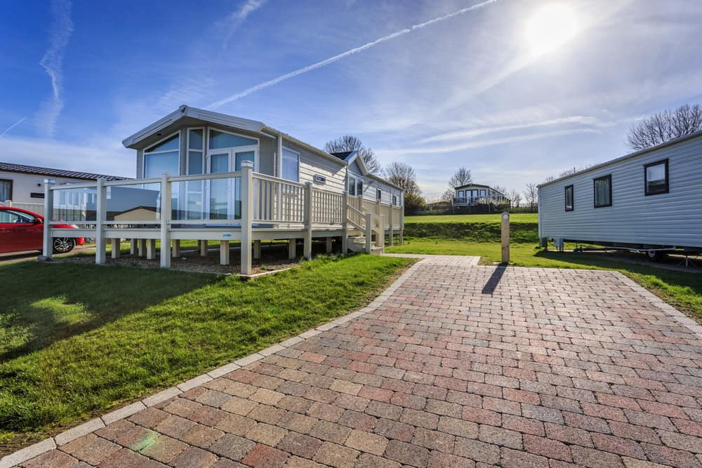 Tobermore paving at Rochester Allhallows holiday park in Kent.jpg
