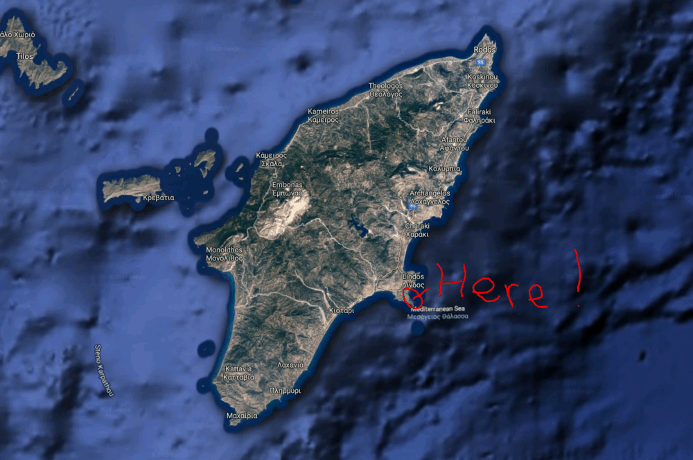 Where is Pefkos on Rhodes?