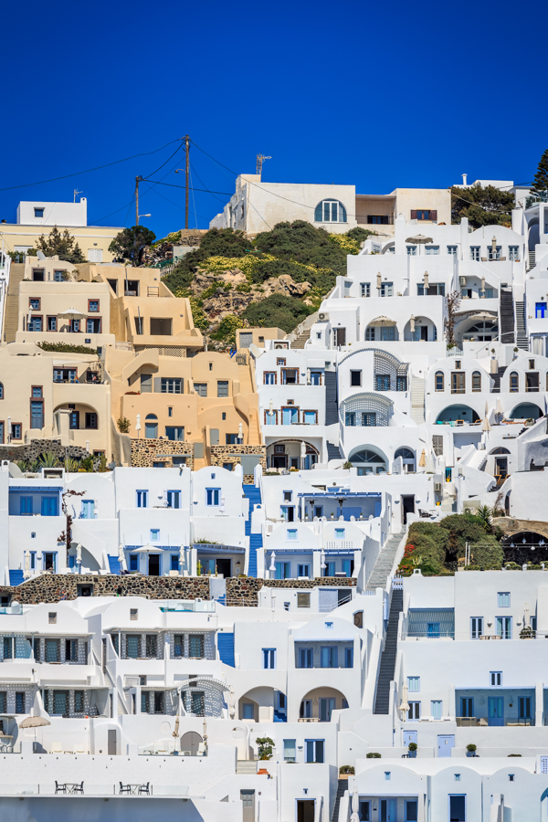 Not all the buildings on Santorini are white
